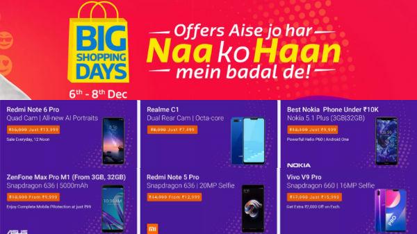 Flipkart Big Shopping Day Sale: Get discounts on 6GB RAM Smartphones