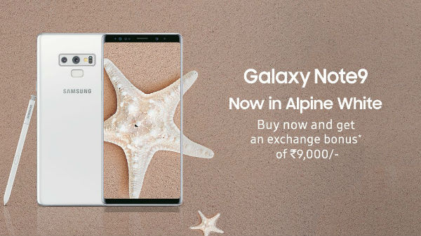 Samsung launched Galaxy Note 9 Alpine White & Galaxy S9+ Polaris Blue