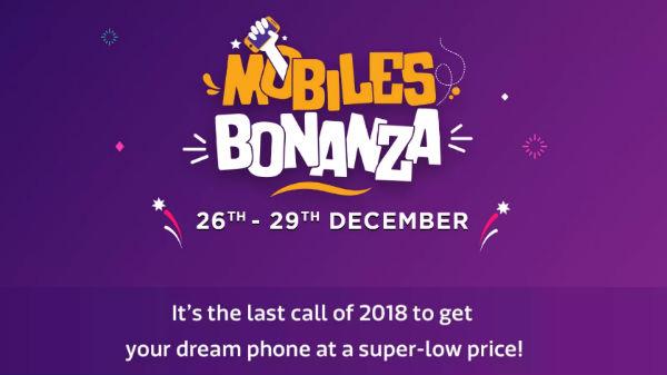 Flipkart Mobiles Bonanza sale starts from December 26 till December 29