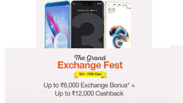 Paytm Mall The Grand Exchange offer on smartphones