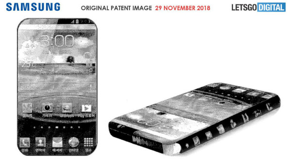 Samsung patent shows a truly bezel=less smartphone in works