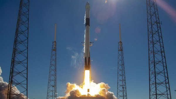 SpaceX rocket with unmanned USA capsule blasts off for space station
