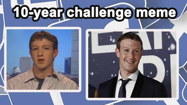 facebook is using your 10 year challenge meme for its own. Black Bedroom Furniture Sets. Home Design Ideas