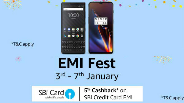 Amazon EMI Fest (Jan 3rd to 7th): Get 6GB and 8GB RAM smartphones