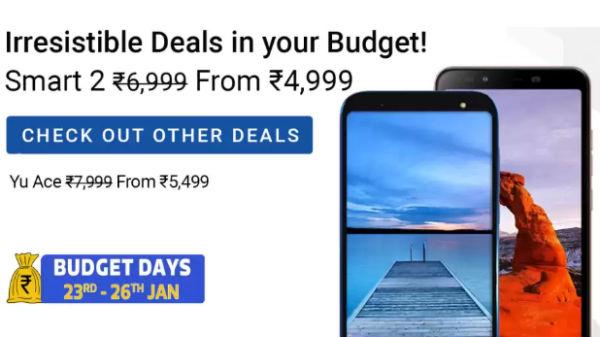Budget smartphones fest on Flipkart starting from Rs. 3,000