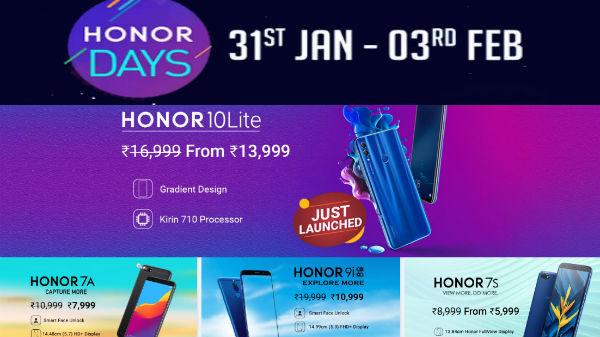 Flipkart Honor Days Sale: Get discounts offer on Honor smartphones