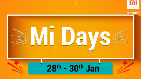 Flipkart Mi Days Sale (Jan 28 to 30th): Avail discounts on smartphones
