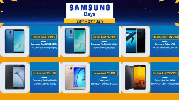 Flipkart Samsung Days: Special offers and Discounts on smartphones