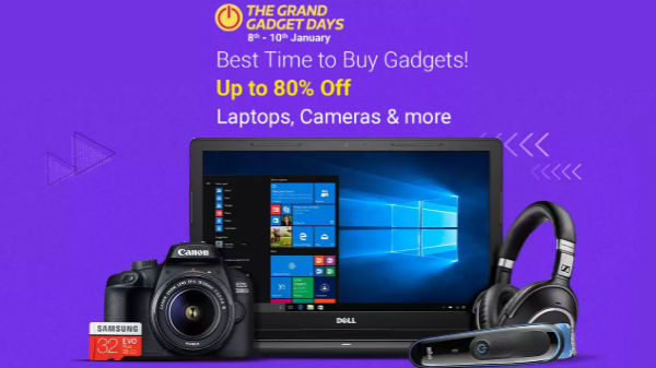 Flipkart 'The Grand Gadgets Days' sale (Jan 8th to 10)