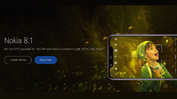 Grab Nokia 8.1, 7.1, 5.1 Plus and 3.1 Plus with 100% cash back offer