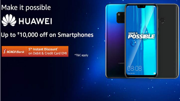 Get up to Rs. 10,000 off on Huawei Smartphones via Amazon