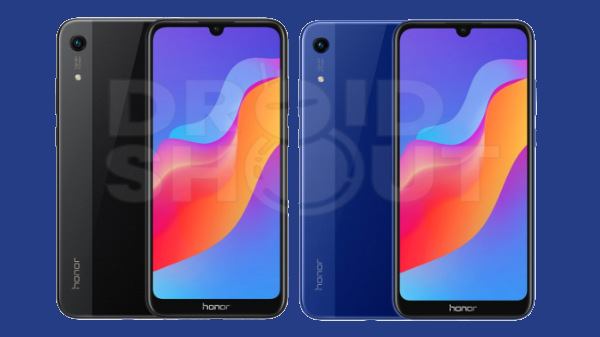 Honor 8A with dual tone glass design leaked with a water-drop notch
