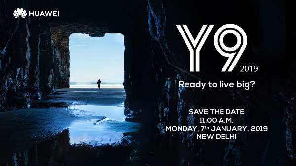 Huawei Y9 (2019) will launch on the 7th of January 2019