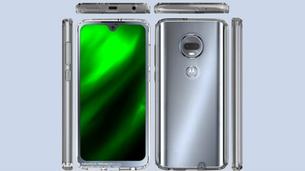 Moto G7 case renders show the design from all angles