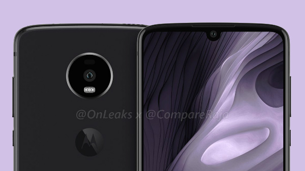 Moto Z4 Play with water-drop notch and a 3.5 mm headphone jack leaked