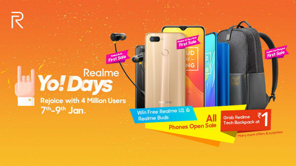 Realme Yo! Days sale to debut on January 7: First sale and offers