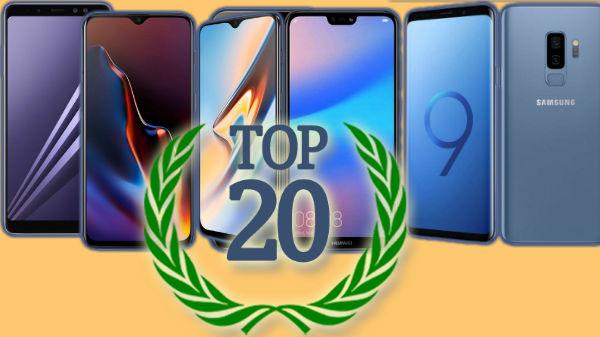 Top 20 most popular smartphones in 2018