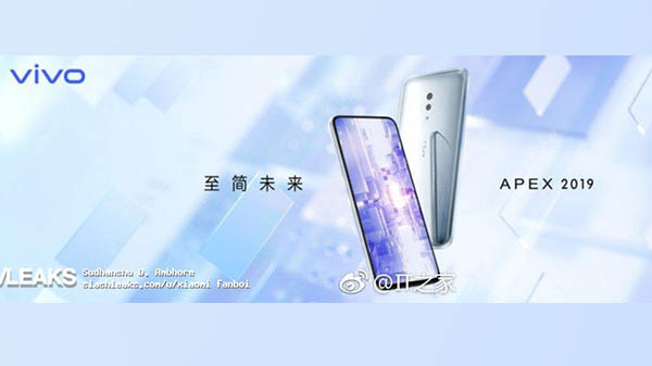 Vivo announced APEX 2019 with Snapdragon 855, no selfie camera