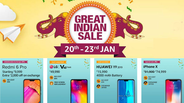 Amazon Great Indian Sale: Special Exchange offer, Discounts on smartphones