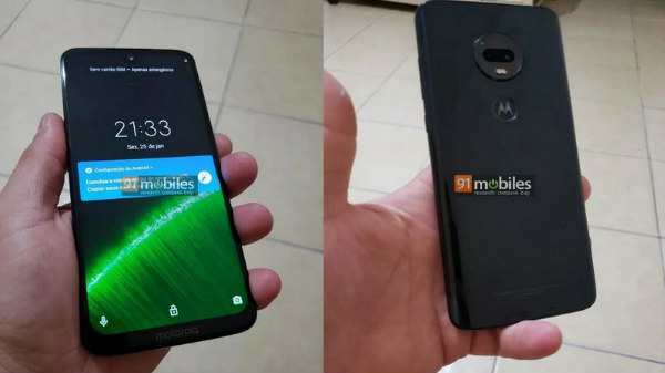 Moto G7 Plus leaked hands-on images tips display with teardrop notch