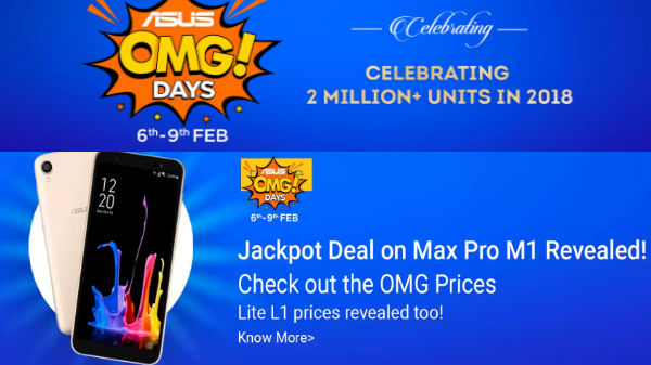 Asus OMG Days on Flipkart: Offers and discounts on Asus smartphones