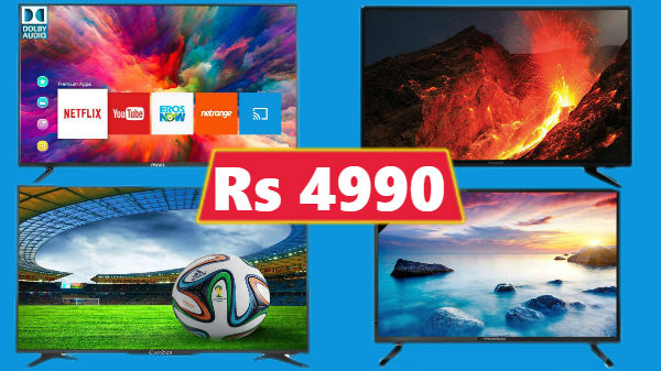 Best LED, HD and Smart TVs to buy in India starting from Rs. 4,999