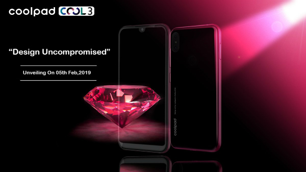 Coolpad Cool 3 with water-drop notch will launch in India on 5th Feb