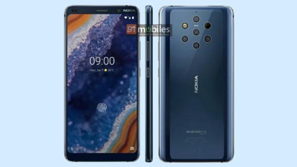Nokia 9 PureView press renders show five rear cameras