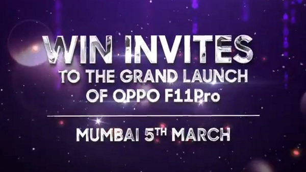 Oppo F11 Pro to arrive on the 5th of March
