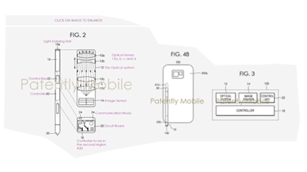 Samsung patents reveal S Pen with built-in optical zoom camera