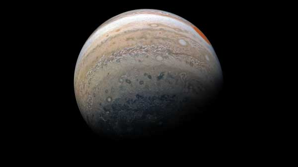 NASA's releases new images of gas giant Jupiter through unusual angles