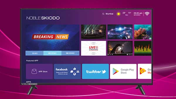 749bf38ca Noble Skiodo launched its first 39-inch Smart HD TV in India for Rs ...