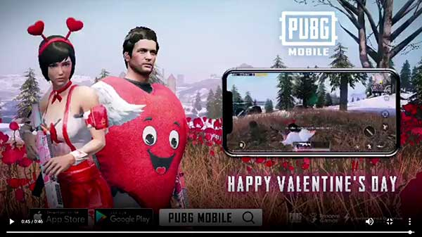 PUBG Mobile Valentine's Day special brings new costumes and skins