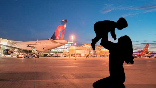 Pilot forced to take a U-turn after woman forgot her infant at airport