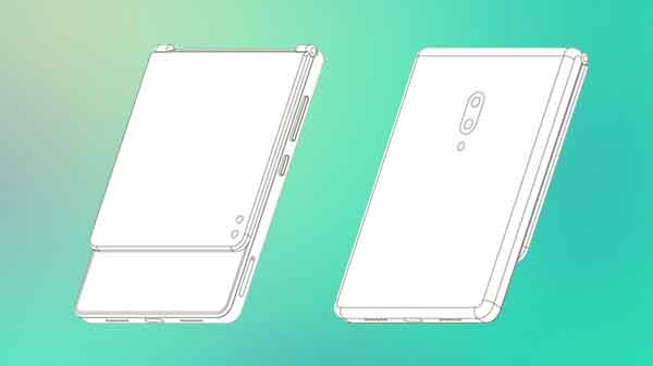ZTE patents foldable smartphone with clamshell design
