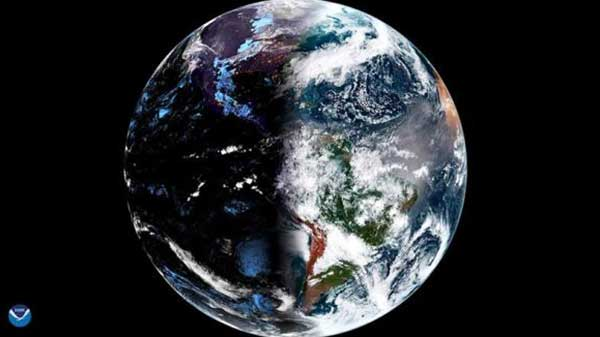GOES-16 satellite snaps breathtaking vernal equinox from 22,300 miles