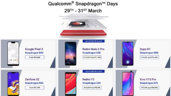 Flipkart Qualcomm Snapdragon Days: Get discounts on smartphones