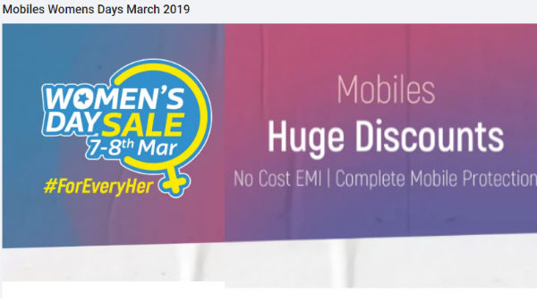 Flipkart Women's Day Sale: Get special discount on select smartphones