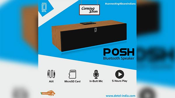 Detel Posh Bluetooth speaker launched at Rs. 1999