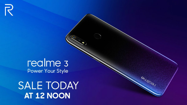 Realme 3 special flash sale: Buy the smartphone here for Rs 8,999