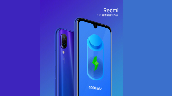 Redmi 7 might carry a 4000 mAh battery with stellar battery life