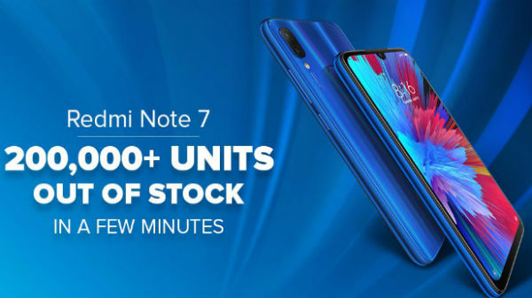 Redmi Note 7 first sale surpasses 2 lakh units in minutes