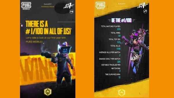 PUBG Mobile: First year stats to gain you in-game rewards and more