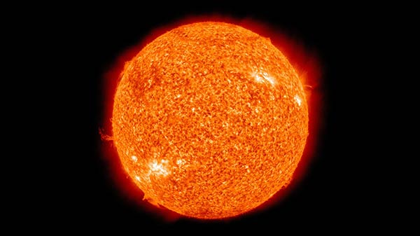 Earth is similar to Sun but with less volatile elements