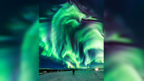 NASA releases breathtaking image of Dragon aurora lights over Iceland
