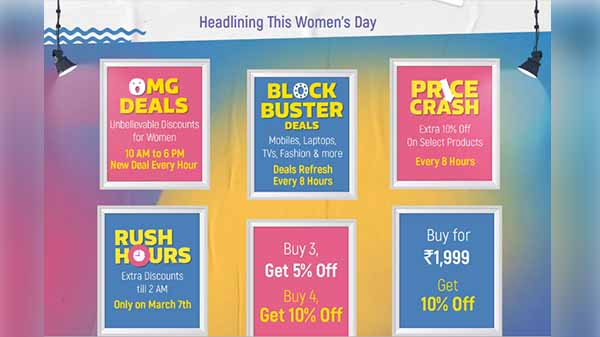 Flipkart Women's Day Sale starts from March 7: Offers, discounts and m