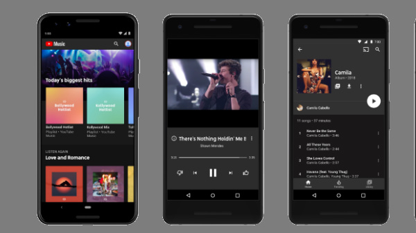 YouTube Music supports playing locally stored audio files on Android