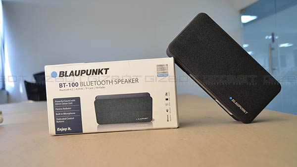 Blaupunkt BT-100 Bluetooth speaker review: Great audio at Rs. 2,999
