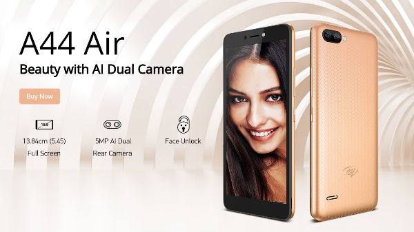 itel A44 Air smartphone receives a price cut now at Rs 4,399