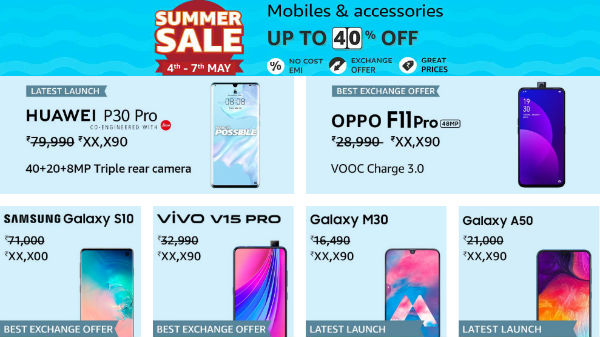 Amazon Summer Sale 4th To 7th May Get Discounts On Bestselling Smartphones Gizbot News